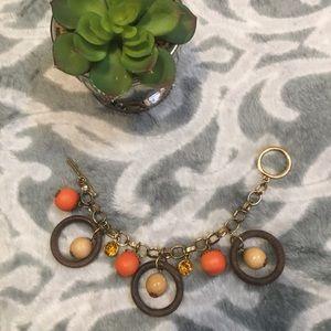 Urban outfitters Wood orange crystal bracelet